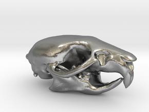 Rat skull pendant  in Natural Silver