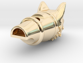 Silver Fox Whistle in 14k Gold Plated Brass