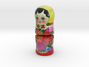 Russian Matryoshka Piece 3 / 7 in Full Color Sandstone