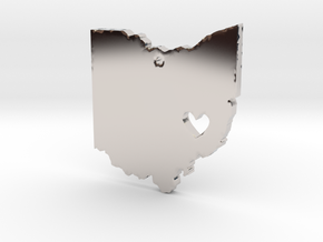 I love Ohio Necklace in Rhodium Plated Brass