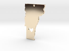 I love Vermont Pendant in 14k Gold Plated Brass