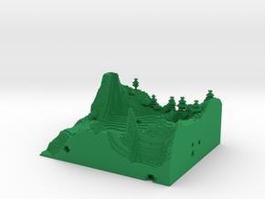Minecraft 1.8 Two Hills season 1 (1 mm)  in Green Processed Versatile Plastic