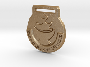 Beacon of Pride Medal in Matte Gold Steel