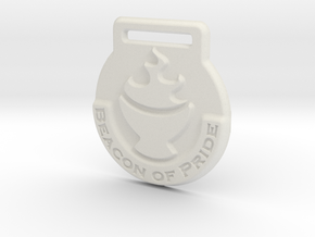 Beacon of Pride Medal in White Natural Versatile Plastic