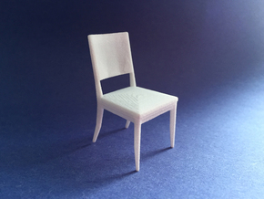 Dining Chair 1:24 scale in White Strong & Flexible