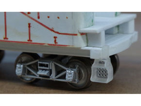 40x Southern Ry. Tender Steps - HO in Smooth Fine Detail Plastic