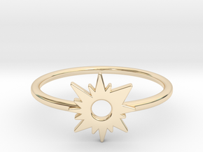 Sun Midi Ring in 14k Gold Plated Brass