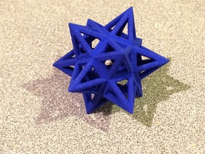 Small Stellated Dodecahedron 0.3 (inch) in Blue Processed Versatile Plastic