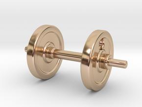 DUMBBELL EARRINGS in 14k Rose Gold Plated Brass
