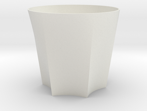 Scalloped Tumbler in White Natural Versatile Plastic