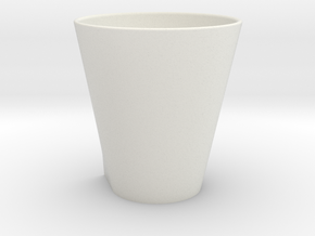 Squircle Tumbler in Porcelain in White Natural Versatile Plastic