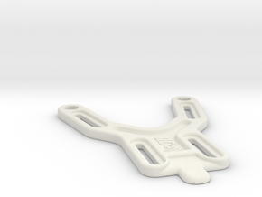 Battery Strap with stops for Associated B5M in White Natural Versatile Plastic