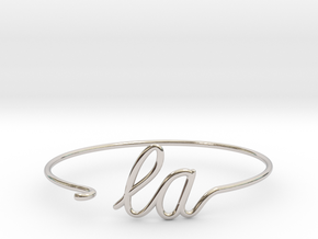 LA Wire Bracelet (Los Angeles) in Rhodium Plated Brass