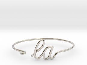 LA Wire Bracelet (Los Angeles) in Rhodium Plated Brass