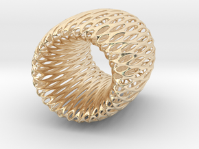 Torus Pendant in 14k Gold Plated Brass