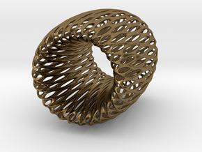 Torus Pendant in Natural Bronze