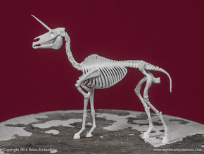 Unicorn Skeleton in White Natural Versatile Plastic
