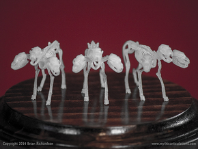 Cerberus Skeletons 32mm in Smooth Fine Detail Plastic