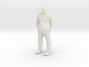 Large Guy 1/29 scale in White Natural Versatile Plastic