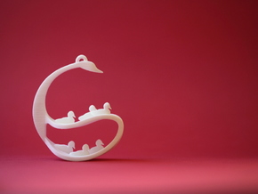 Seven Swans A-Swimming in White Natural Versatile Plastic