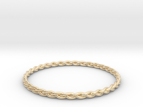 Braid bangle in 14k Gold Plated Brass
