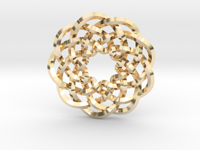 Woven Starburst Pendant in 14k Gold Plated Brass