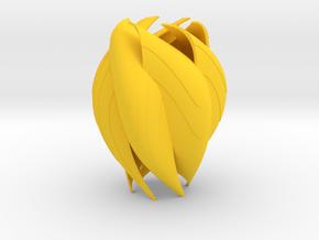 COROLLA Vase in Yellow Processed Versatile Plastic