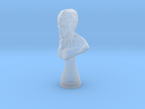 Alien bust in Smooth Fine Detail Plastic
