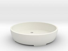 Bonsai Pot (Round) in White Natural Versatile Plastic