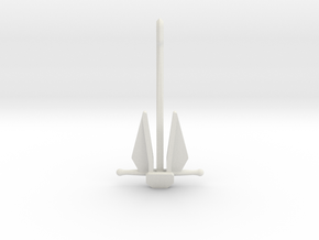 Danforth anchor in White Natural Versatile Plastic