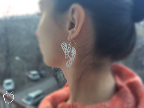 Phoenix Earrings (conture) in White Natural Versatile Plastic