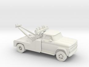 1/87 1966 Chevrolet C 50 Wrecker in White Natural Versatile Plastic