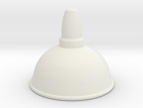 Industrial Lamp Shade in White Natural Versatile Plastic