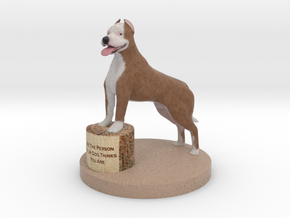 Pitbull  in Full Color Sandstone