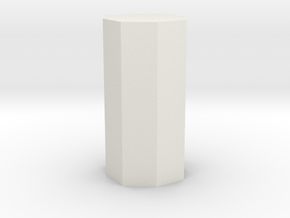 Dihexagonal prism in White Natural Versatile Plastic