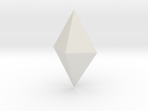 Orthorhombic dipyramid in White Natural Versatile Plastic