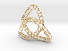 Triquetra Frame in 14k Gold Plated Brass