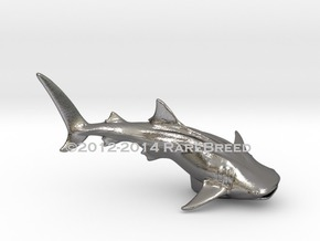 Whale Shark Statue in Polished Nickel Steel