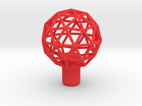 "Shift Knob Geodesic 12x1.25 2.25"" in Red Processed Versatile Plastic"