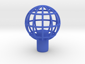 "Shift Knob Globe 12x1.25 2"" in Blue Processed Versatile Plastic"