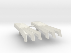 Cybermantium Claws in White Natural Versatile Plastic