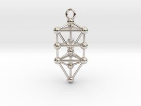 Small Triangular Tree of Life Pendant in Platinum