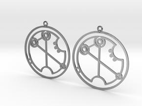 Virginia - Earrings - Series 1 in Polished Silver