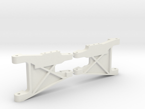 RC10 Wide rear control arms (stock) in White Strong & Flexible