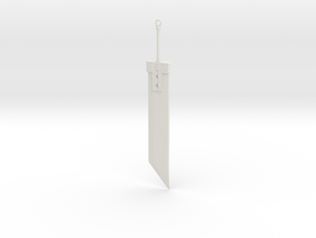 Buster Sword FFVII in White Natural Versatile Plastic