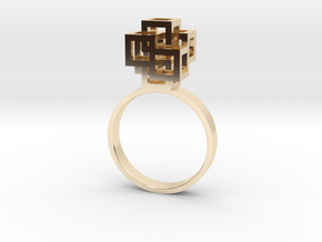 Quadro Ring - US 6 in 14k Gold Plated Brass