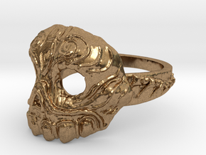 Dr.K Skull Ring-Size 9.5 in Natural Brass