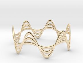 Triple Wave Bracelet (67mm) in 14k Gold Plated Brass