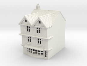TFS-69 N Scale Topsham Fore Street building 1:148 in White Natural Versatile Plastic