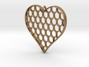 Honey Heart Pendant in Matte Gold Steel